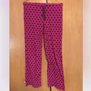 🎁Xhilaration Polka Dot Fleece Pajama Pants-XS🎁